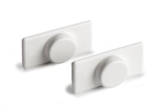 Ventanara Magnethalter Rollo ohne Bohren Weiß 4er Set
