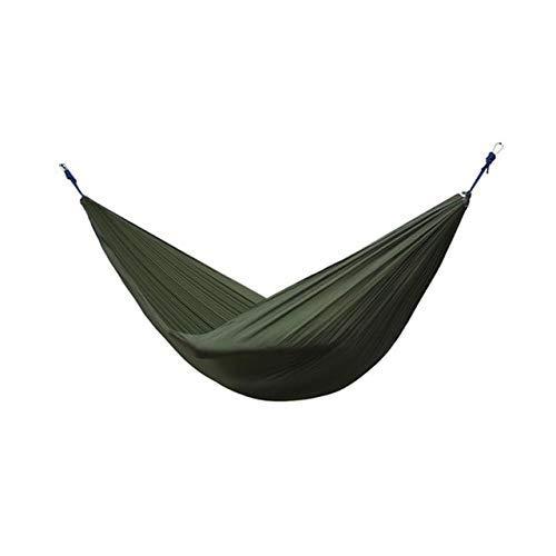 ZXL Hangmat voor buiten, draagbaar, voor reizen, camping, survival, tuin, schommelstoel, zwart Leger Groen