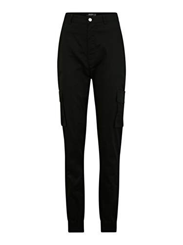 Missguided (Tall) Damen Cargohose schwarz 10 (38)