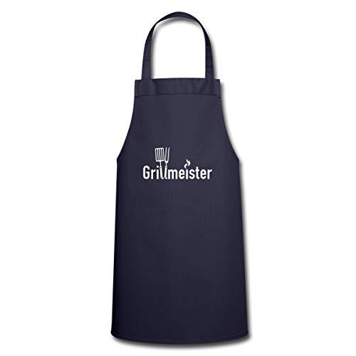 Spreadshirt Grillen Grillmeister Grillbesteck Kochschürze, Navy