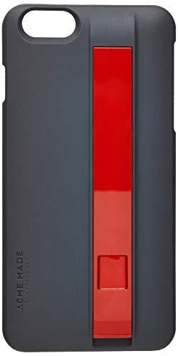Estojo com Cabo de Carga e Sincronismo Lightning Usb Iphone 6 Plus, Acme Made, Capa Protetora Rígida, Cinza e Vermelho