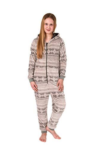 Meisjes jumpsuit overall pyjama lange mouwen - Noors motief - 271 467 97 004, Kleur: grijs, Maat: 164