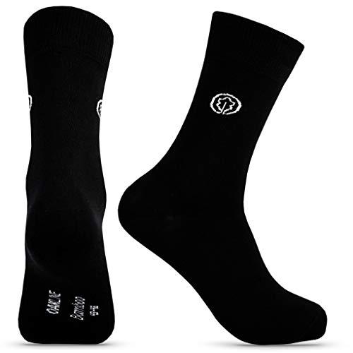 OAKLINE Bambus Rebel Herrensocken schwarz 47 Herren Socken Business Bambussocken 47 48 49 50 antibakteriell 100 Baumwolle ohne gummi (schwarz, 47-50)