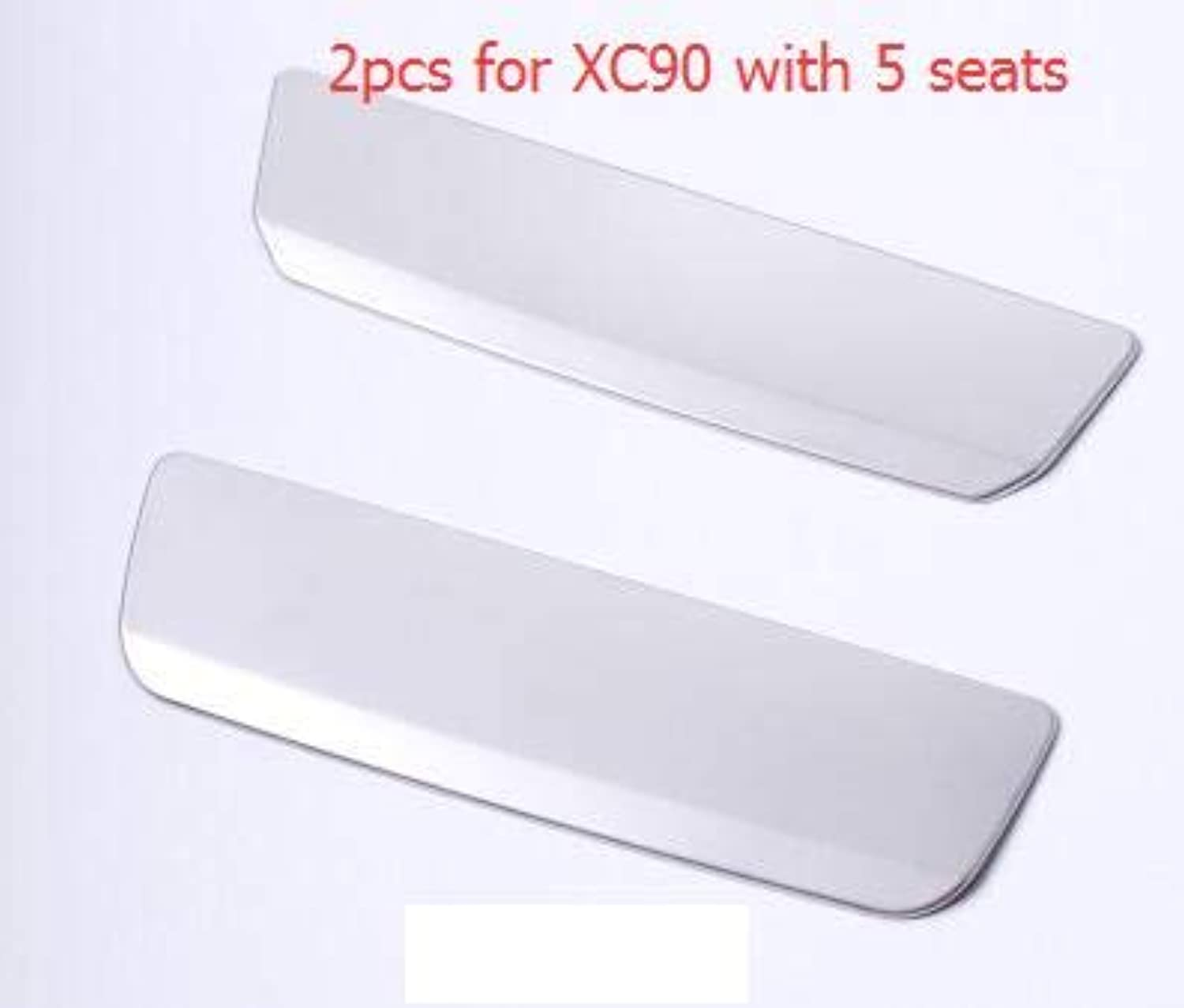 For Volvo 20152018 XC90 Car Styling Interior Car Trunk Handle Cover Stainless Steel Sticker Silver Car Accessories Two Options  2 pcs for 5 Seats