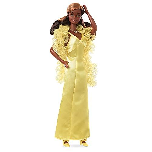 Barbie Signature Superstar Christie, muñeca de colección de juguete con vestido amarillo de fiesta (Mattel GXL28)