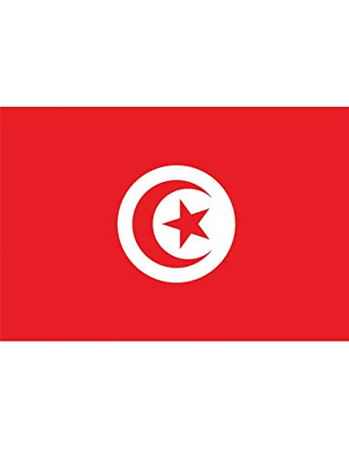 "TrendClub100® Fahne Flagge ""Tunesien Tunisia TN"" - 150x90 cm / 90x150cm"