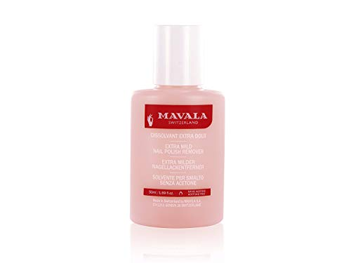 Mavala nail polish remover pink - removedor de esmalte suave sem acetona 50ml