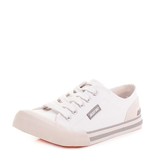 Rocket Dog Tibor, Zapatillas Mujer, Blanco (White J00), 41 (8 UK)