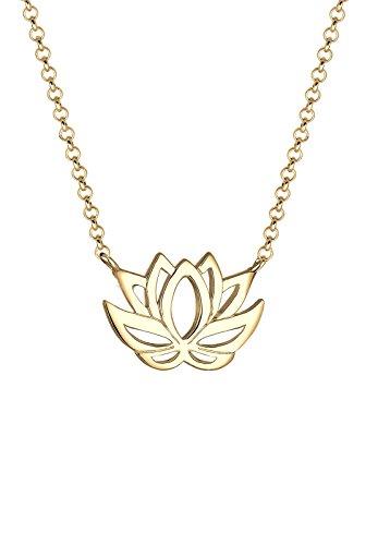 Elli  Damen-Kette mit Anhänger Lotusblume Vergoldet    45 cm - 0105651016_45