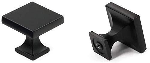 AngYou Perillas de gabinete de cajones, Hardware de aleación de Zinc Cajón Cuadrado Trazos de Puerta, mandos de Armario para cajones de cómoda -28mm (1.1 Pulgadas) * 28 mm (1.1 Pulgadas)