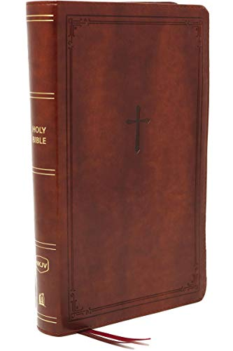 Compare Textbook Prices for NKJV, End-of-Verse Reference Bible, Personal Size Large Print, Leathersoft, Brown, Red Letter, Comfort Print: Holy Bible, New King James Version Large type / Large print Edition ISBN 9780785233596 by Thomas Nelson