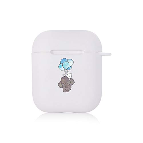 Cáscara Suave a Prueba de Golpes del Elefante Encantador Lindo para los Auriculares de Bluetooth inalámbrico Airopds 1 2 Casos de la Cubierta de protección Caja de Airops Personalizada