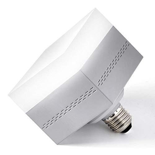 Luz Garaje LED, Bombilla LED Cuadrada, 30W E26 / E27 (Equivalente a 150-200W), 6000K Luz Diurna Blanca para el Hogar Iluminación LED Bombilla para Garaje, Interior al Aire Libre (Blanco Frío)