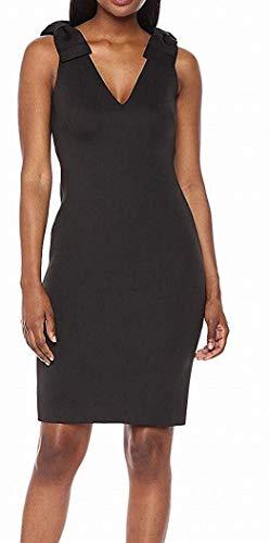 Eliza J Women's Sheath Dress with Bow Detail, Black, 18