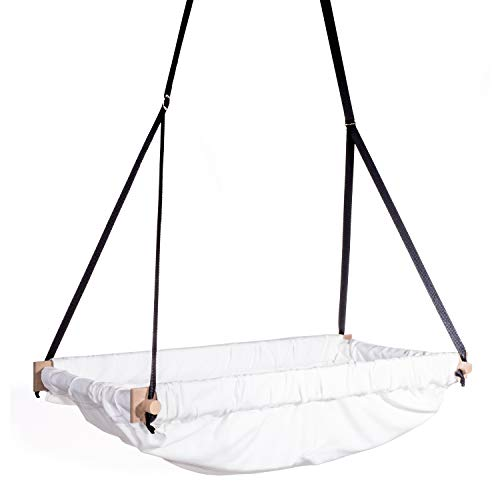 Svava Organic Raw Fabric Nursery Toddler, Baby Hanging Wooden Bassinet Swing Hammock Product Image