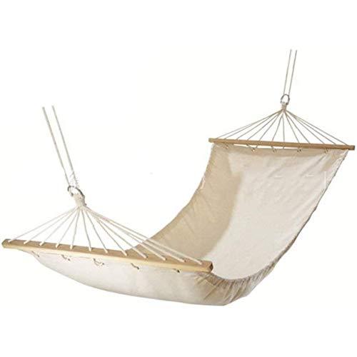 Dlcvko Hamaca de Doble Capa, Hamaca de jardín, Porche, Camas Dobles de Exterior e Interior con Suave Tejido de algodón, sumamente Confortable