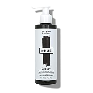 dpHUE Gloss+ Dark Brown Semi-Permanent Hair Color & Conditioner, 6.5 oz - Color Boost with Healthy Shine - Deep Conditioning Treatment - No Peroxide, Ammonia or Mixing - Gluten-Free, Vegan