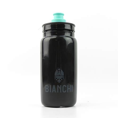 Bianchi - Cantimplora Fly 2019, capacidad 550 ml, color negro brillante con logotipo Bianchi cód. C9010132