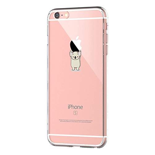 Oihxse ersatz für [iPhone 6 Plus / 6s Plus] Hülle, Handyhüllen Schutzhülle,Ultra Dünn Weiche Slim Transparent Silikon TPU Handy-Hülle Mädchen rutschfest Case für iPhone 6s Plus / 6 Plus (Koala)