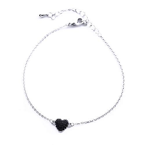 HAKJ<YT Perzik Hart Mode Honderd Armband Vol van Diamond Love Sen Meisje Nieuwe Hartvormige Hand Ornament
