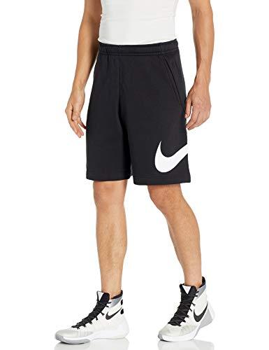 Nike Men's Sportswear Club Short Basketball Graphic, Black/White/White, Medium