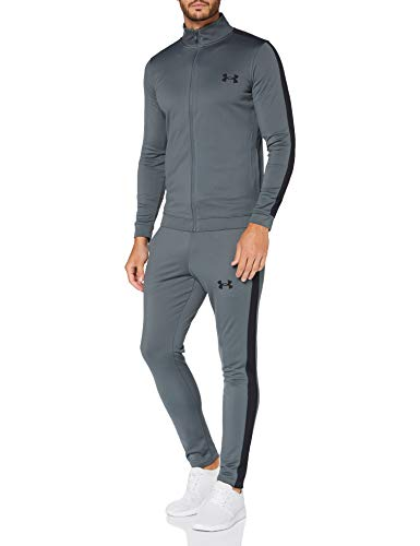 Under Armour UA Showdown Taper, elegante Golfhose mit optimaler Bewegungsfreiheit, komfortable Sporthose mit 4-Pocket Design Herren, Academy / Steel Medium Heather / Academy, 40/34