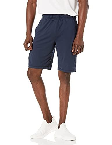 Amazon Essentials Men's Tech Stretch Training Short, Navy, Medium