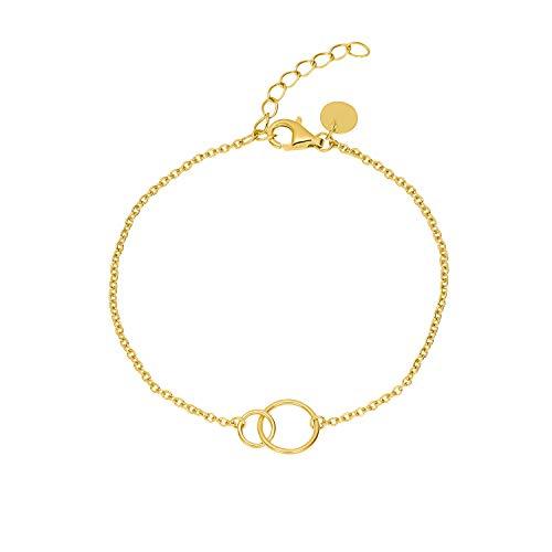 NOELANI Armband für Damen, Sterling Silber 925 vergoldet