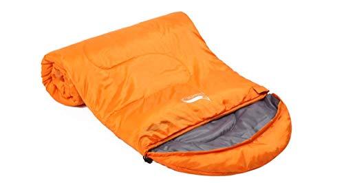 FKB@ED Saco de dormir para adultos, primavera y otoño Saco de dormir para acampar, sacos de dormir empalmados de sobres con saco de compresión para senderismo Mochilero/naranja /