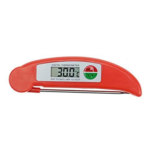 Lectura instantánea con el termómetro con sonda larga Cocina el termómetro del alimento Fold visualización electrónica Barbacoa termómetro LED de cocción del alimento del termómetro del grado de acero