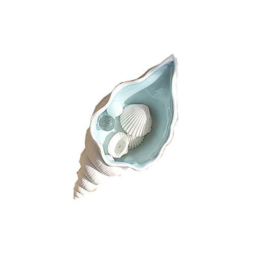 ZWS Accesorios Cenicero de Estrella de mar de cerámica Concha Concha Candy Joyería Almacenamiento Placa Decoración del hogar Estatuilla de Porcelana Decoración de la Boda Decoraciones para el Hogar