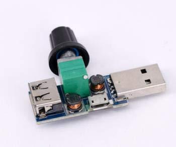 5 unids 5 V USB ventilador gobernador volumen de aire stepless pequeño ventilador regulador portátil radiador base velocidad regulación