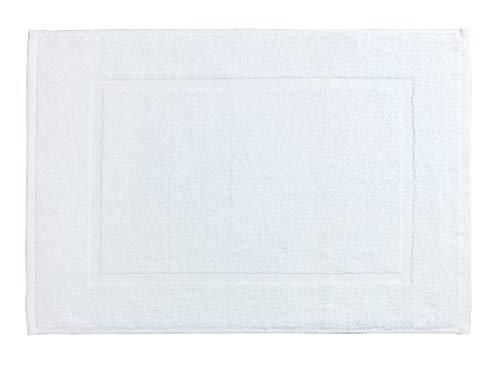 Allstar 23542400 Frottier Badematte Zen, Duschvorleger, Baumwolle, 40 x 60 cm, Weiß