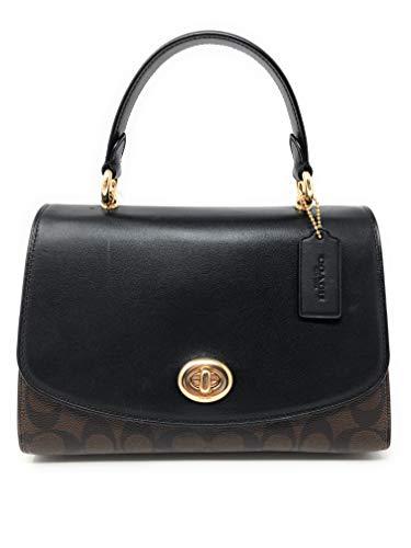 Coach Tilly Top Handle Satchel Handbag Purse F76620 (IM/BROWN/BLACK)