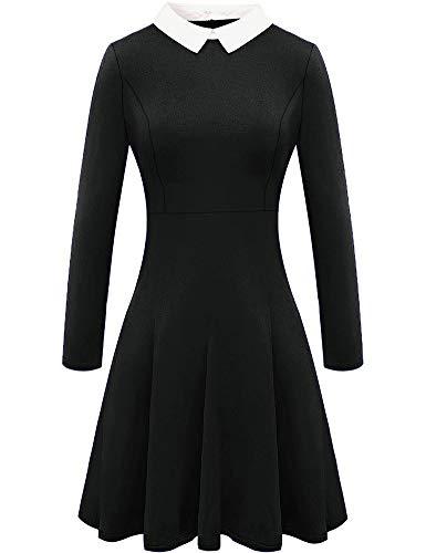 For G and PL Damen Halloween langärmlige Kleid Peter Pan Kragen Costume Skaterkleid