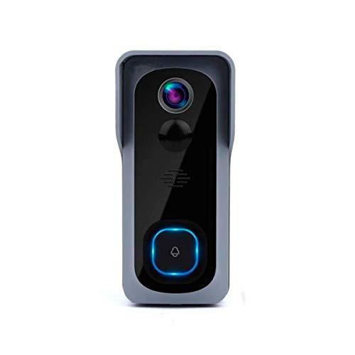 Timbre inalambrico Inteligente Camara IP WiFi Si smart 1080p HD, boton de Llamada, microfono y Altavoz. sin Cables Incluye 2 Pilas (no Requiere hub)