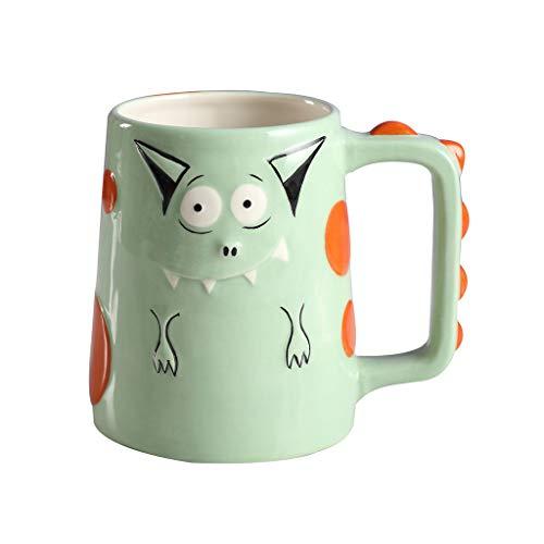 Xiaokeai Kaffeebecher Nette handgemachte Keramik-Schale, Design Fein, Kaffeetasse, Teetasse, ideal for Kaffee, Tee und Getränke, lustiges Geschenk, Kapazität (450 ml) Kaffeetassen & Becher (Size : A)