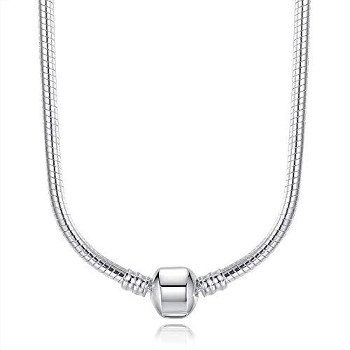 YioKpro Gran Oferta Collares de Cadenas de Serpiente Aptos para Colgantes para Mujeres Regalo de joyería de Fiesta de Boda de Lujo