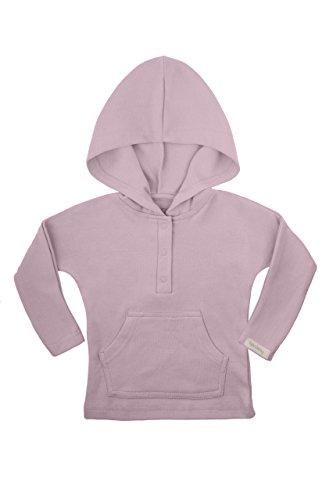 bonamy Baby Organic Cotton Hoodie Sweater-Warm Hooded Sweatshirt for Toddler Boys and Girls Lavender
