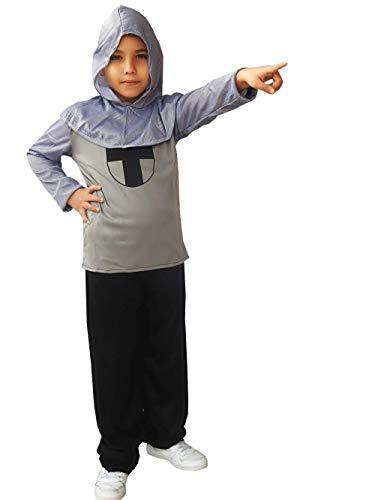 Maat l - 7/8 jaar - kostuum - middeleeuwse ridder - kind - vermomming - carnaval - halloween cosplay