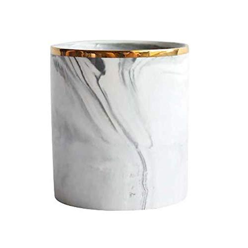 Mackur Nordic Keramik Marmor Aufbewahrungseimer Make-up Make Up Pinsel Aufbewahrung Kosmetischer Stifthalter