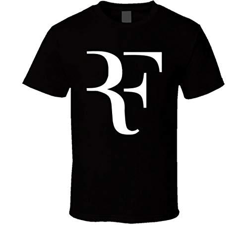 N/Y Roger Federer RF Wimbledon England Campionato Tennis Fan T Shirt Nero Nero M