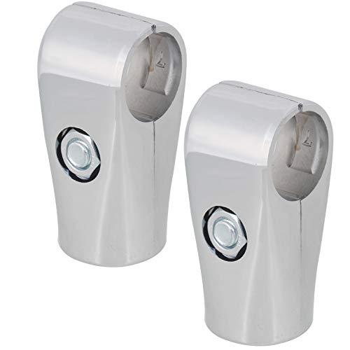 Silber 25mm Innendurchmesser Zwei Wege Regal Display Rack Gerüst Rohrverbinder Aluminiumlegierung Rohrfittings Packung von 2 Stück