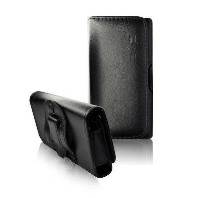 handy-point Funda Horizontal para cinturón para Apple iPhone 5, Sony Xperia J St26i, con Clip para cinturón, Color Negro