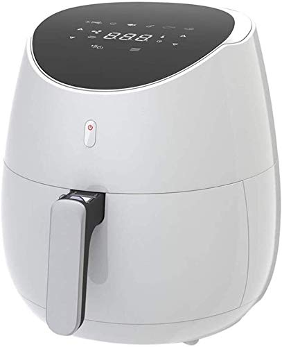 Fryer Tower Manual Air Fryer LED Digital Touchscreen Presets Oven Timer Healthy Rotisserie Function Oil Free Cooking Rapid Air Circulation System Frying Technology Best Gift (Color : White)