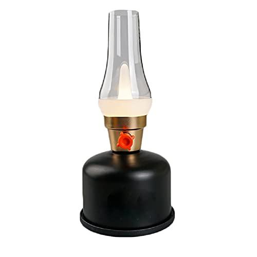 XWF lámparas de Queroseno Luces de Camping Retro LED Recargables, Luces de iluminación móvil, Luces de atmósfera, Luces de Camping de hogar, Luces de Tiendas de campaña Lámpara de Aceite Antigua
