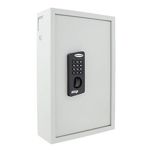 Rottner Schlüsseltresor Keytronic 100 mit Elektronikschloss – inkl. Notöffnung mittels Schlüssel – mit seitlichem Einwurfschlitz – 100 GRATIS Schlüsselanhänger – Wandbefestigung