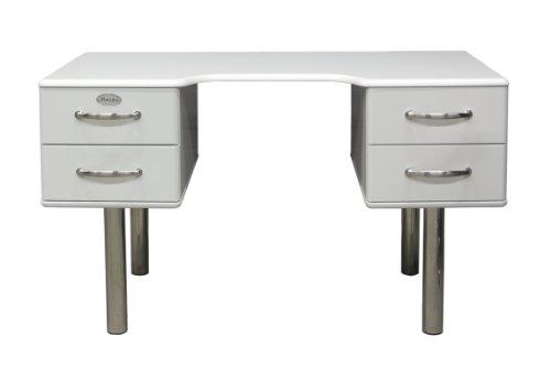 Tenzo 5253-005 Malibu - Designer Schreibtisch 74 x 130 x 60 cm, MDF lackiert, weiß