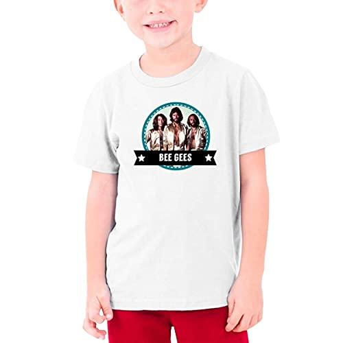 CORINNA BUCKNER Bee Gees Logo Youth Round Neck T-Shirt White