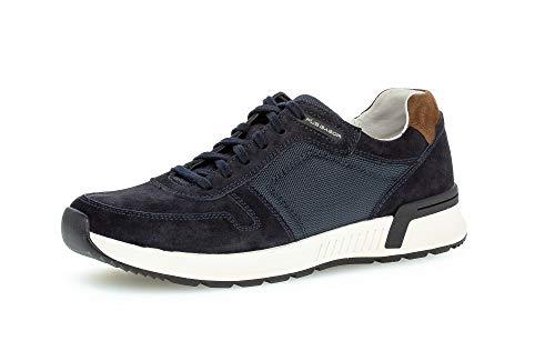 Gabor Pius Herren Halbschuhe, Männer Sneaker Low,Wechselfußbett,zertifiziertes Leder,Men's,Men,Man,schnürschuhe,schnürer,Midnight,43 EU / 9 UK